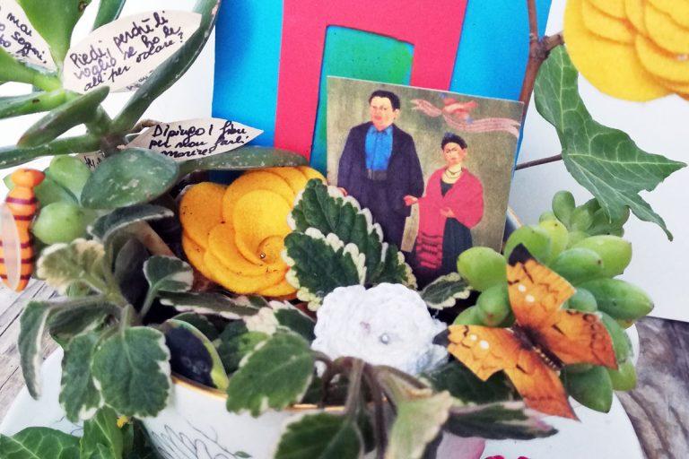 tazza con decorazione frida khalo