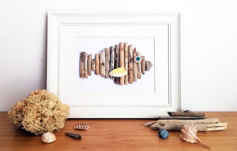 progetto creativo con legni di mare